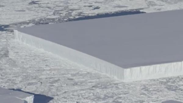 La NASA halla un iceberg perfectamente rectangular en la Antártida