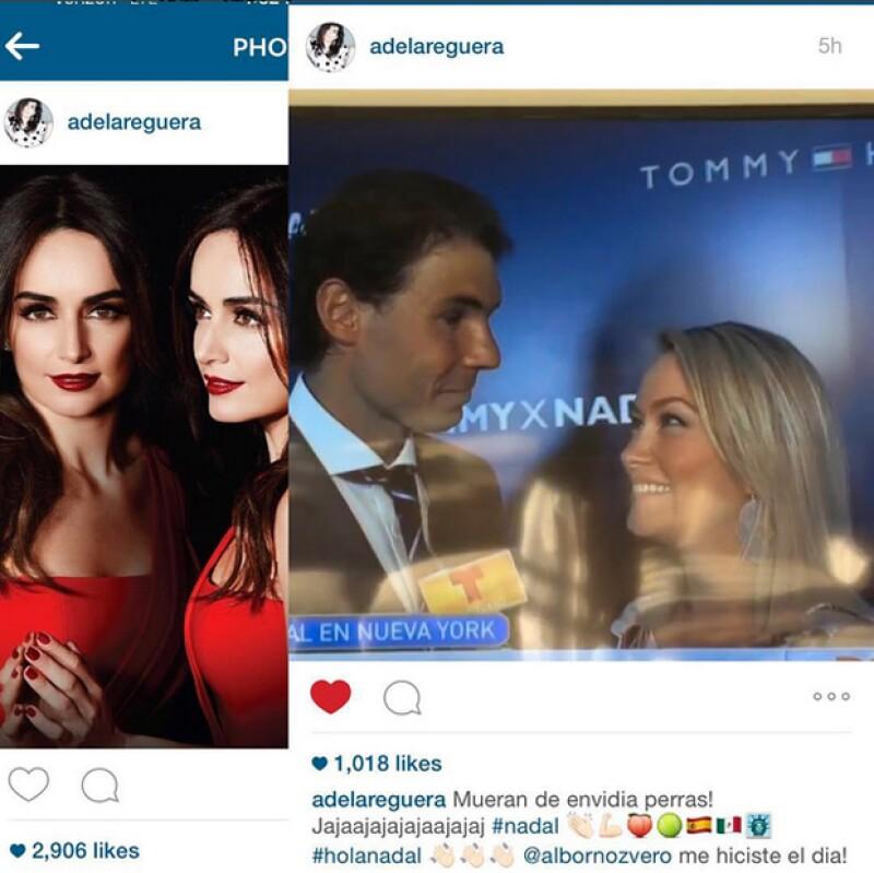 La reportera quiere hacer match entre el tennista y la actriz.
