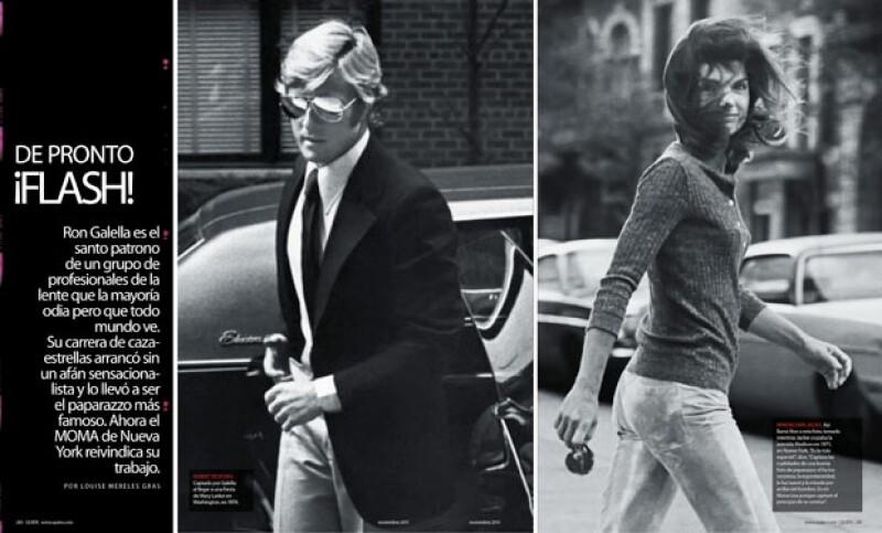 Ron Galella captó apersonalidades como Robert Redford llegando a una fiesta de Mary Lasker en Washington, en 1974; y Jackie Kennedy cuando cruzaba la avenida Madison en 1971.