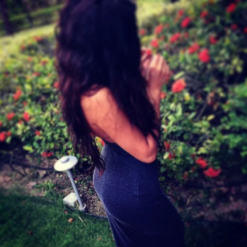 Justin compartió la foto que tomó a Selena Gomez, donde destaca su derrière.