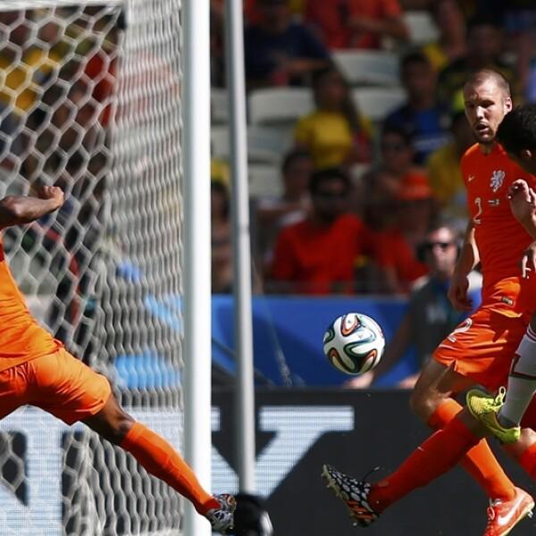 Holanda vs México, gol