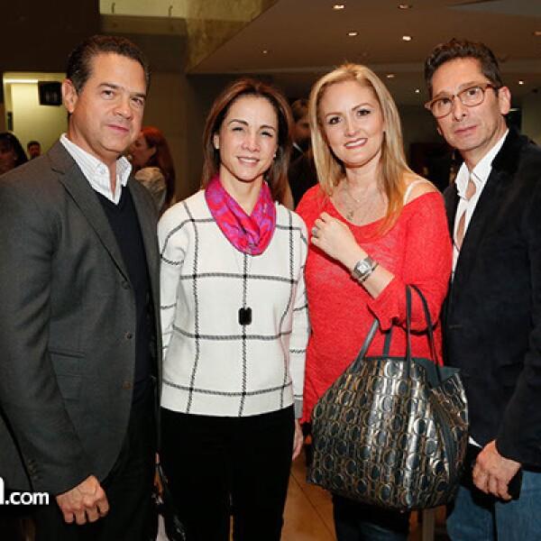 Alejandro Fernández,Martha Otero,Christiane y Juan Carlos Serralde