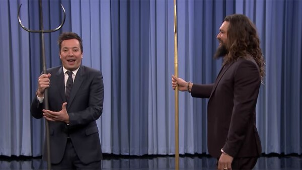 Jimmy Fallon y Jason Momoa