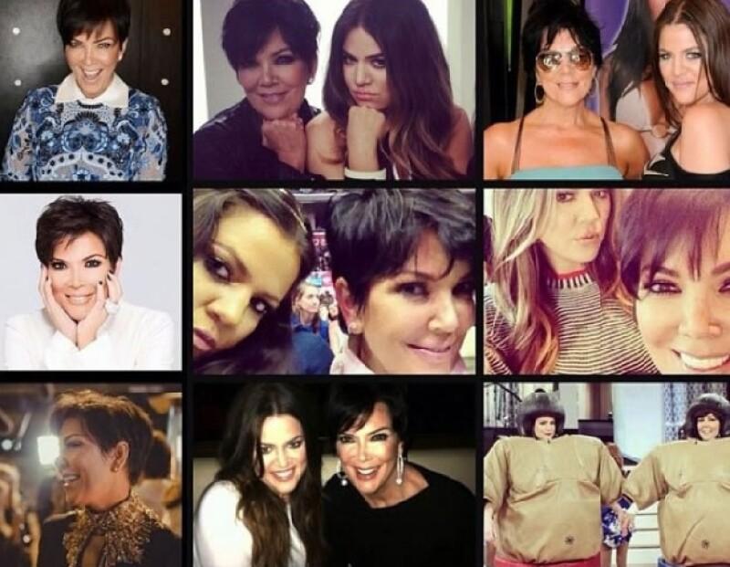 La master mind del clan Kardashian celebró su aniversario rodeada de amigas y sus hijas, quienes mandaron hacer un pastel personalizado.