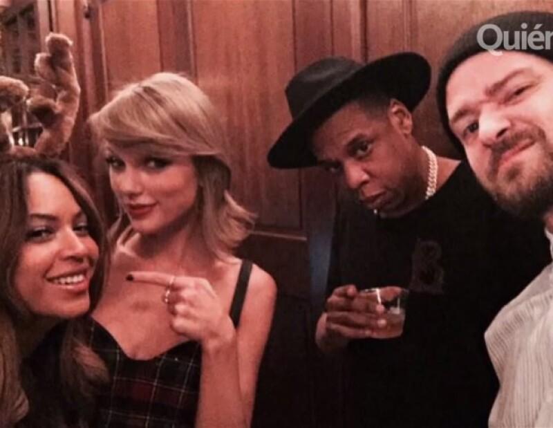 Taylor Swift deja a un lado a sus amigas Lorde y Karlie Kloss para festejar junto a Justin Timberlake y Beyoncé; además Kim K es maquillada por su hija, Zedd y Selena podrían hacer dueto y más.