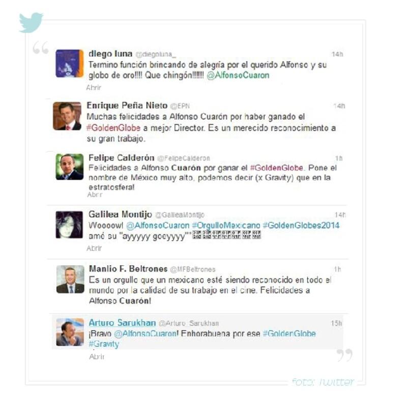 Estos son algunos de los mensajes de orgullo de los famosos tras el triunfo de director de Gravity/