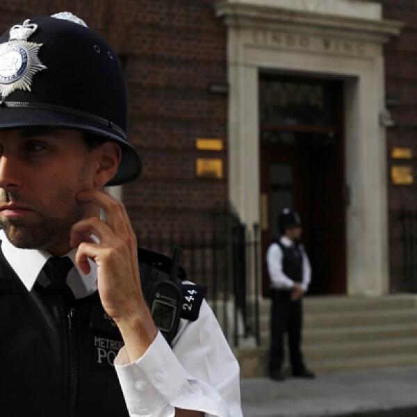 La seguridad se ha reforzado en Londres por el nacimiento del 'bebé real'.