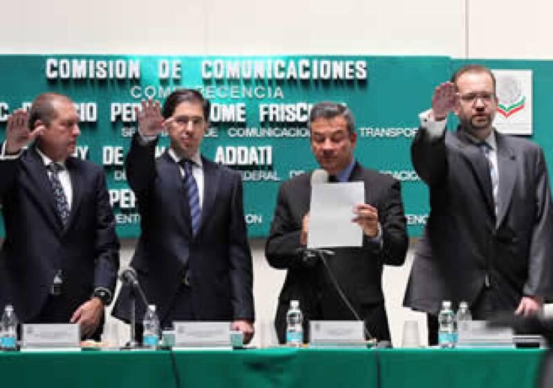 Eduardo Pérez Motta, Dionisio Pérez Jácome y Mony de Swaan respondieron a los cuestionamientos de los legisladores. (Foto: Notimex)