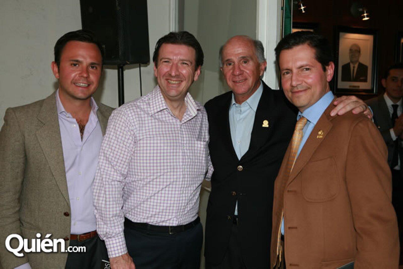 Francisco Mijares, Paolo Pagnozz, Francisco Mijares y Federico Fernández Quiroz