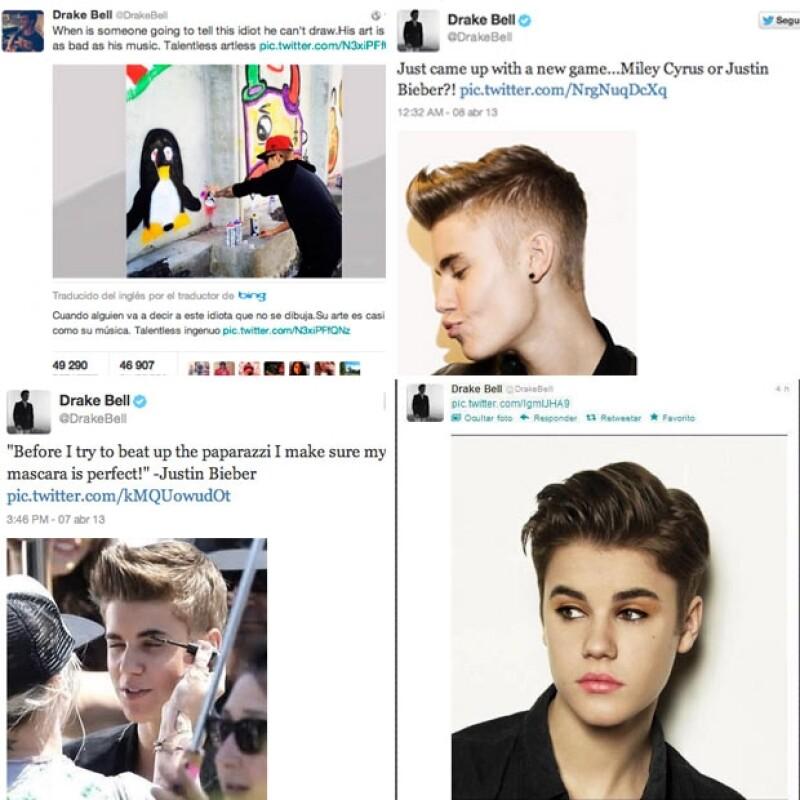 """Desde hace meses, el protagonista de """"Drake & Josh"""" había descalificado al astro pop canadiense y a sus seguidoras a través de Twitter."""