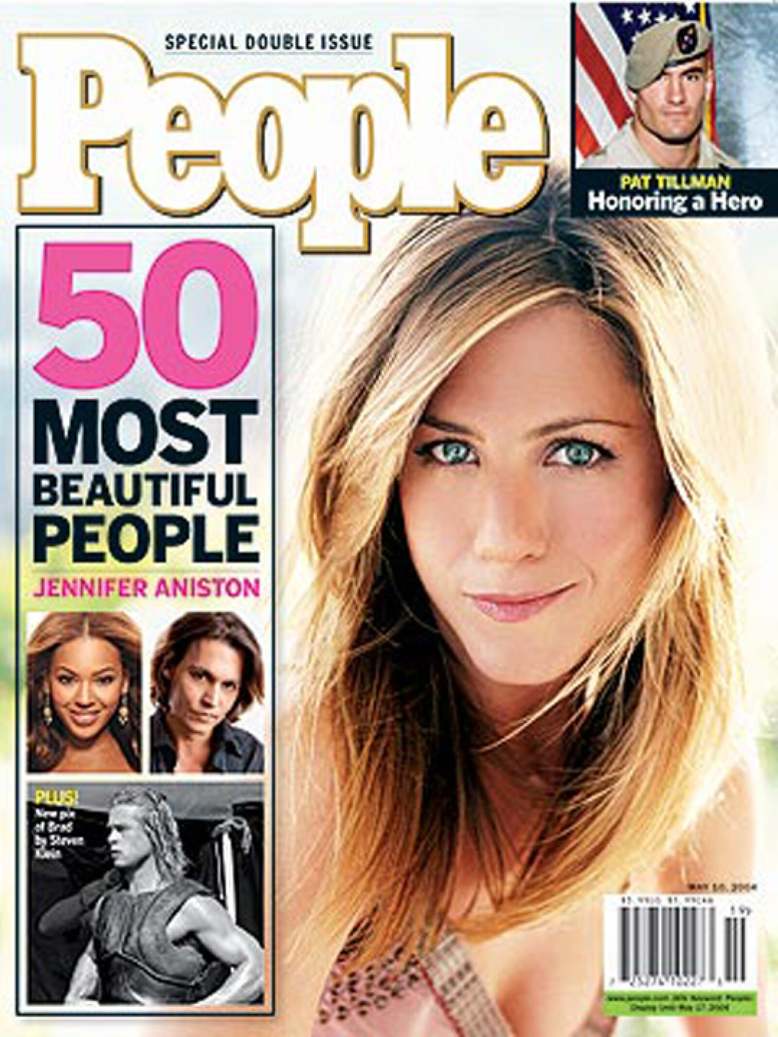 Jennifer Aniston fue la mujer más hermosa durante el 2004.