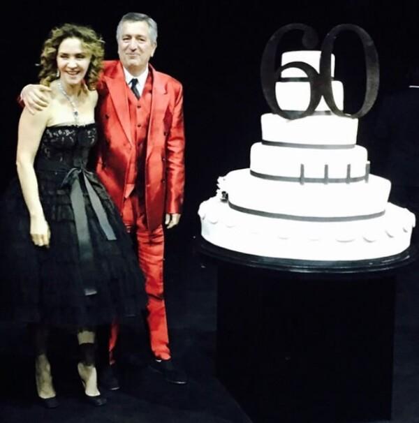 Pese a especulaciones sobre su separación Angélica aún asistió al cumpleaños número 60 de Jorge.