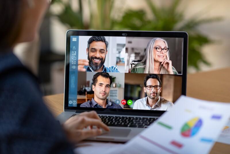 Videoconferencia - videollamada - convención virtual - junta de trabajo - junta virtual