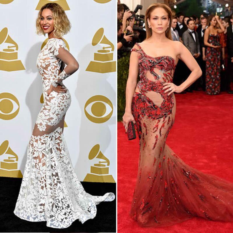 Celebs con este tipo de cuerpo: Beyoncé y JLO