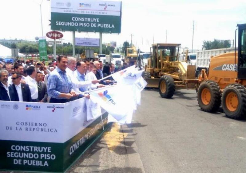 Inicio de obras de segundo piso de la autopista M�xico-Puebla