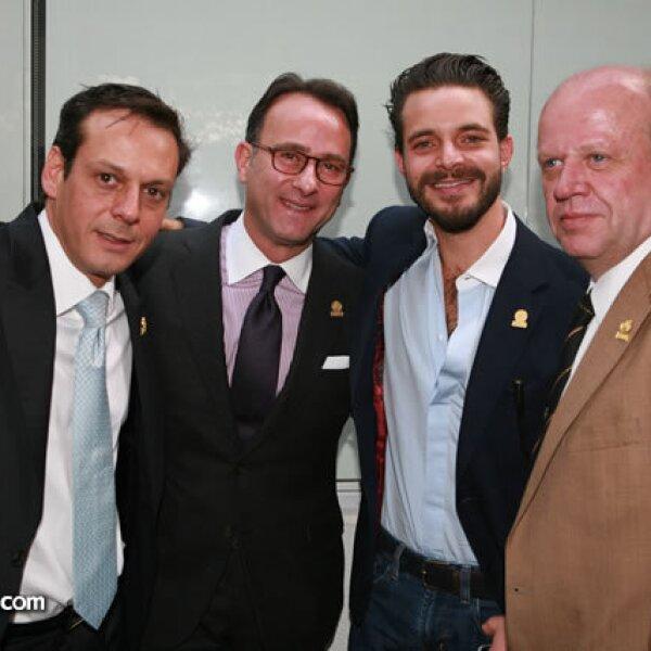 Alberto Martínez, Marco Beteta, Diego Cuaik y Eduardo Solórzano