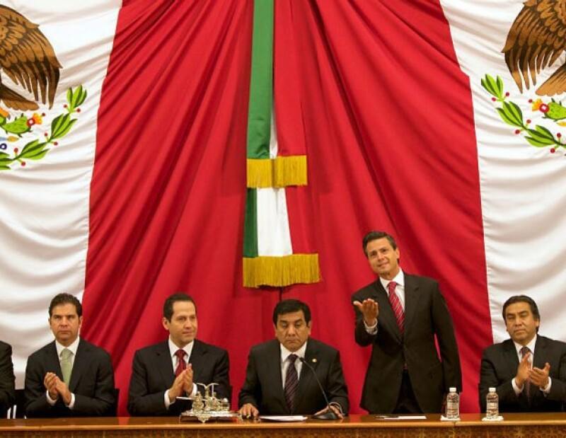 Hoy rindió protesta Eruviel Ávila como gobernador del Estado de México.