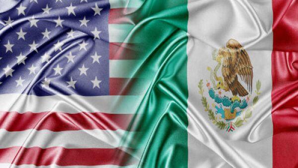 banderas de M�xico y EU
