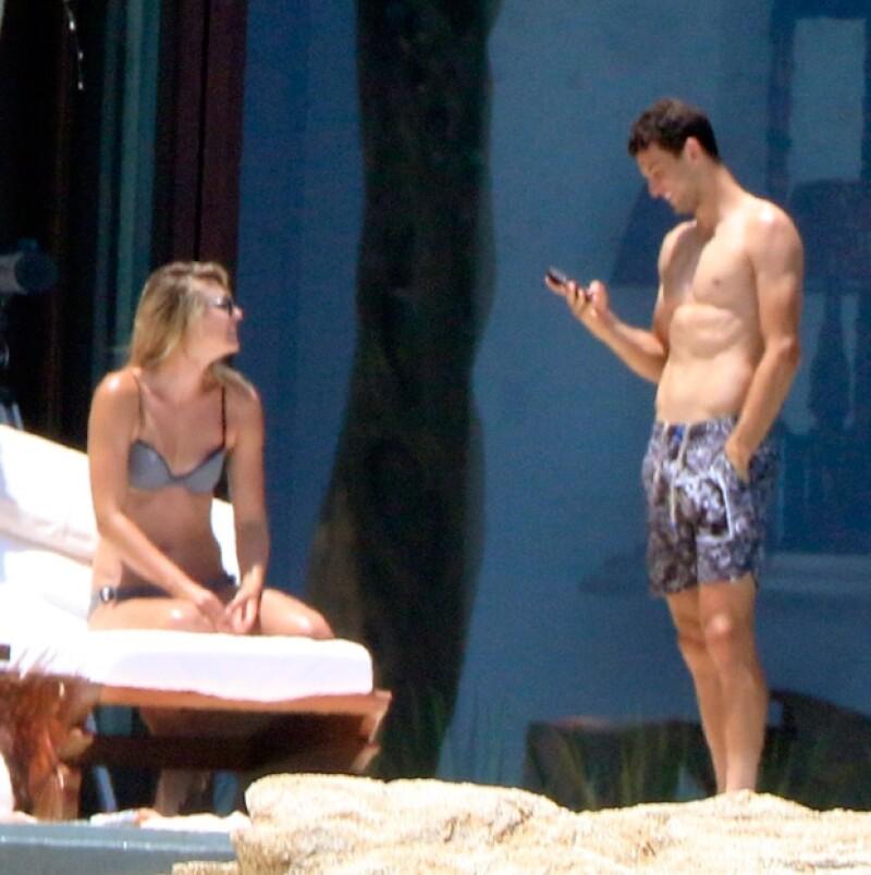 Maria Sharapova y Grigor Dimitrov estuvieron vacacionando en México en julio pasado.