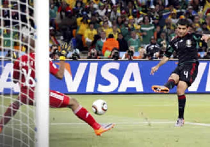 Rafael Márquez dio el empate a México frente a Sudáfrica. (Foto: Reuters)