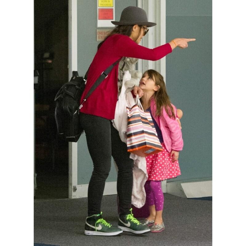 Katie Holmes perdió la calma con su hija cuando Suri parecía desobedecer sus órdenes.