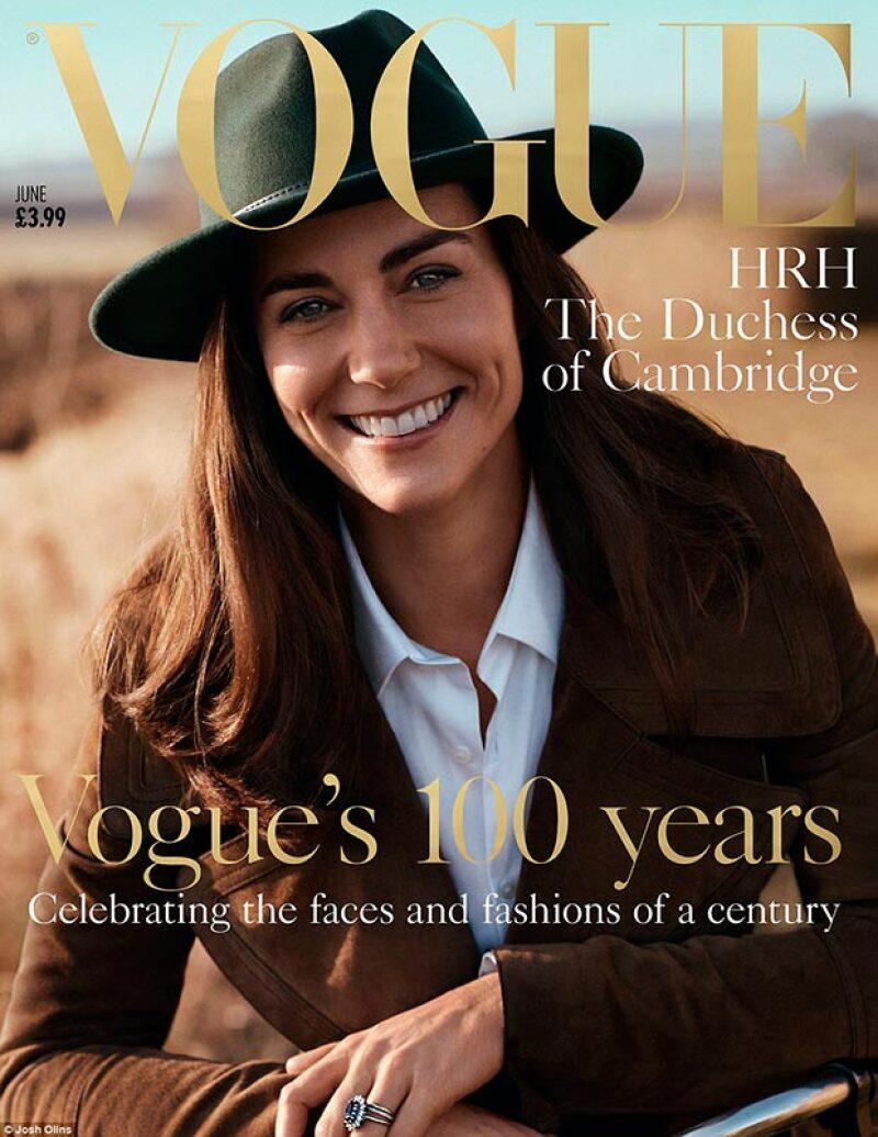 La duquesa de Cambridge es la portada de junio de la edición inglesa de Vogue, siendo esta la primera vez que posa para una publicación.