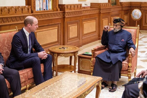 Príncipe William y Qabús bin Said al Said
