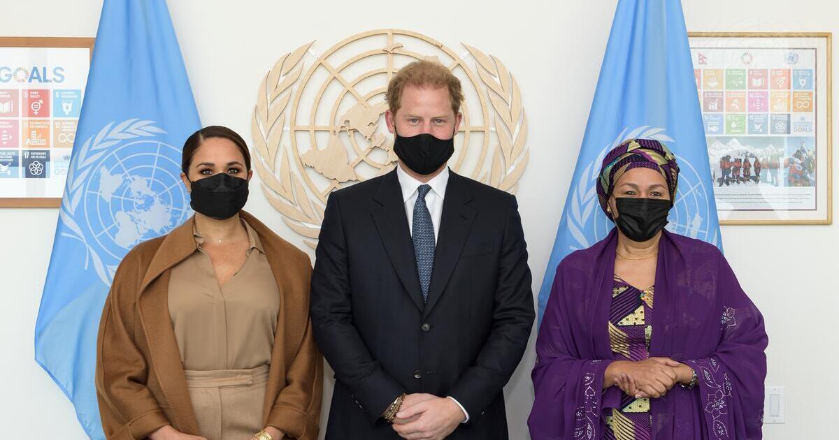 Harry y Meghan se reúnen con la vicesecretaria de la ONU
