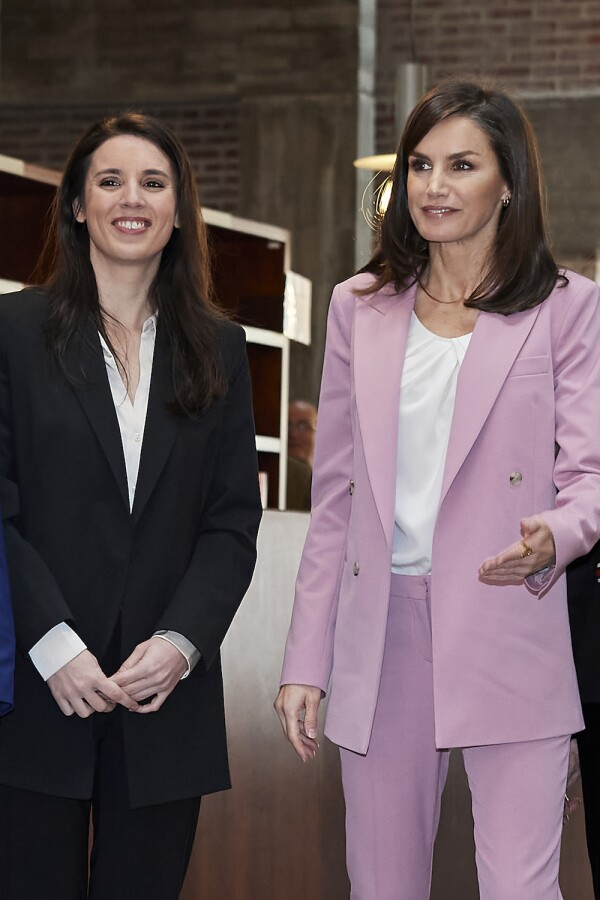 Queen Letizia Of Spain Attends A Meeting With APRAMP Prostitution Women Association