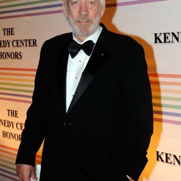 Donald Sutherland fue uno de los invitados a la ceremonia.