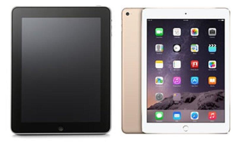 El tamaño y peso han sido algunas de las grandes transformaciones de la iPad. (Foto: Especial)