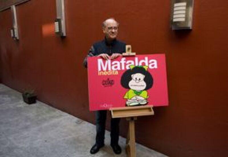 """El dibujante argentino Joaquín Lavado trajo al país una nueva edición de su """"Mafalda inédita"""", que recoge tiras omitidas en sus otros ejemplares."""