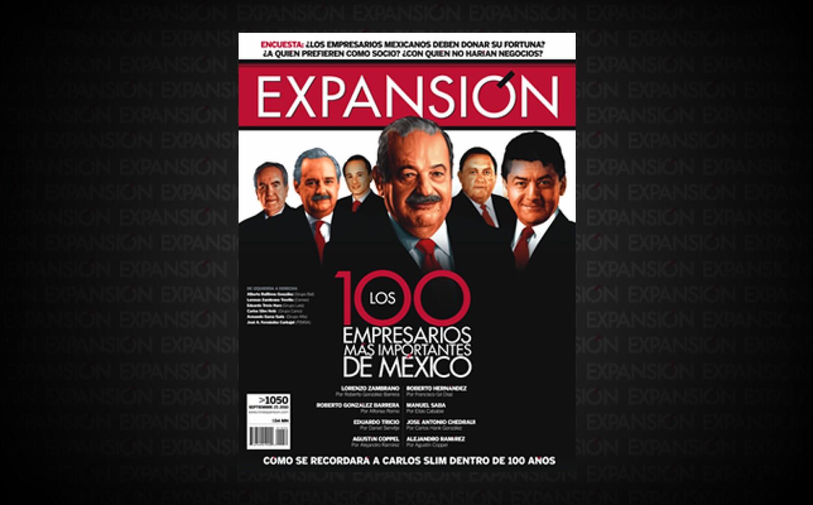 Los 100 empresarios juntos suman una fortuna de 175,800 millones de dólares; el 18% del PIB. Lo peor del año y que sepultó a Gastón Azcárraga en el ranking fue la quiebra de Mexicana de Aviación.
