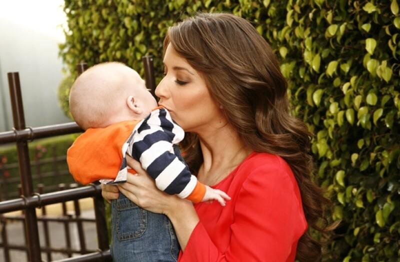 La Choco, como le dicen de cariño, se considera una mamá muy preocupada por su hijo, pero a la vez muy amorosa.