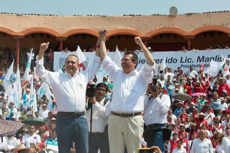 Este domingo el dirigente priista estuvo en un evento con el candidato a gobernador de Tlaxcala, Marco Antonio Mena.