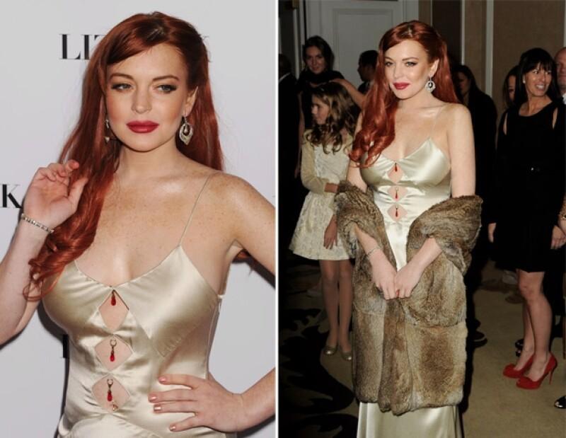 Ayer por la noche se realizó una alfombra roja en el hotel Beverly Hills de Los Ángeles para presentar la película `Liz and Dick´, sin embargo Lilo atrajo las miradas por lo `mal vestida´.