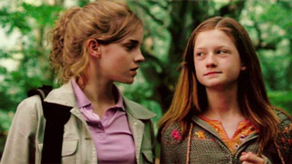 Emma Watson y Bonnie Wright