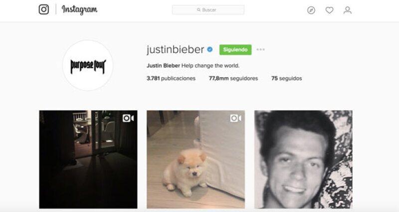 Aquí la prueba del comeback de Justin.