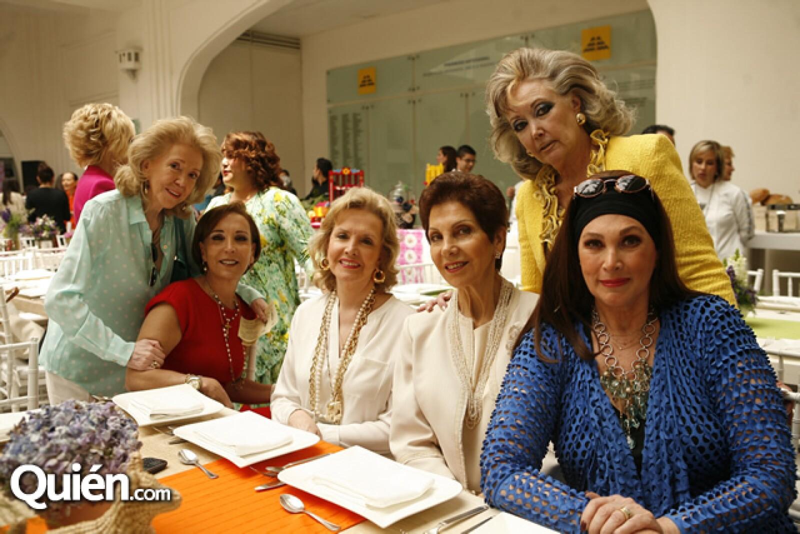 Melba de León, María Alicia Chaux, Adriana Villarreal, Abigail Rivera Torres, Alicia Aguilar y Marisela Torruco