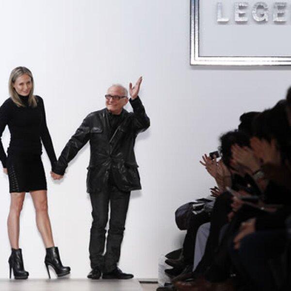 lubov y max azria en la semana de la moda de nueva york