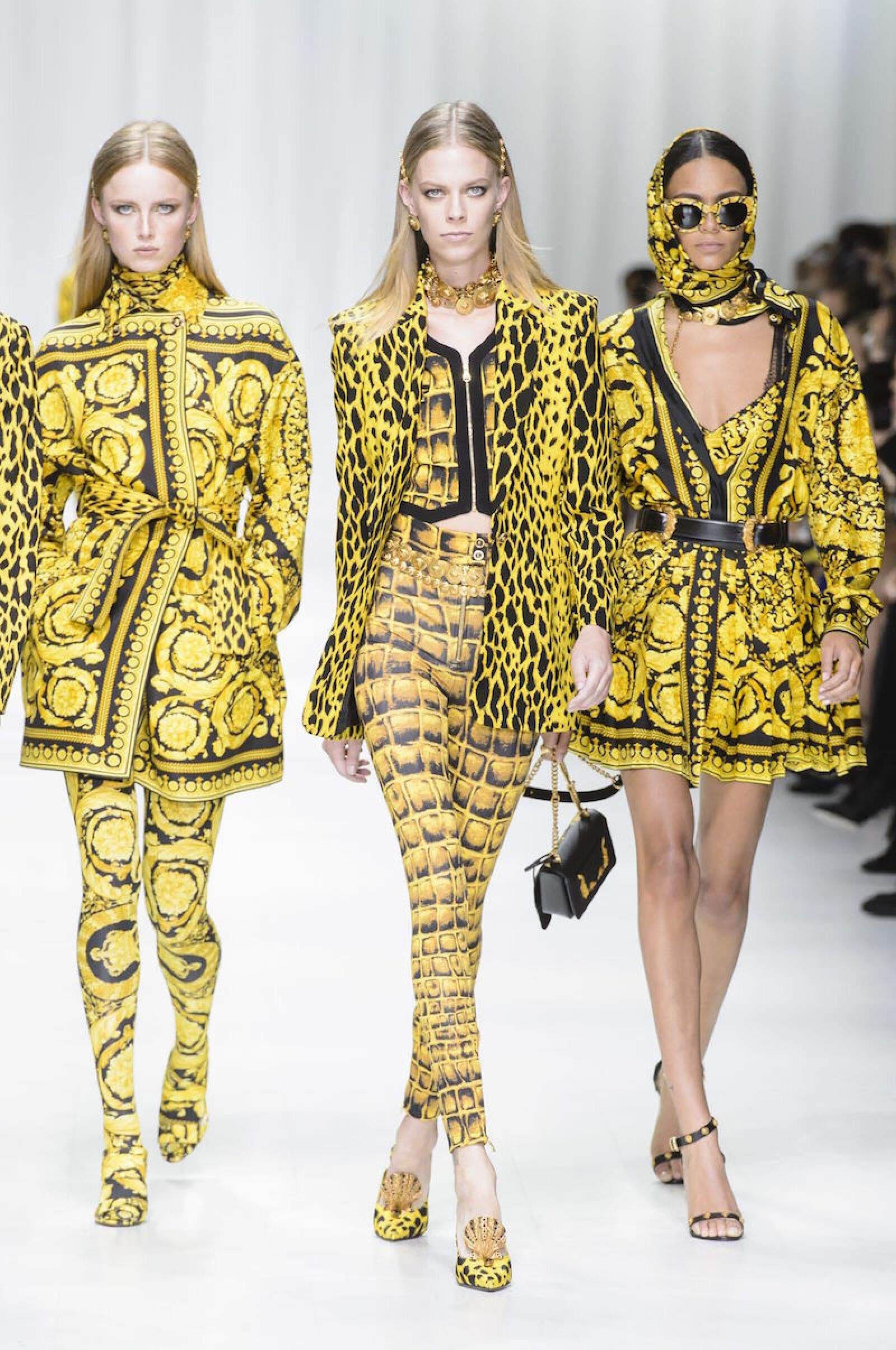Versace show, Runway, Spring Summer 2018, Milan Fashion Week, Italy - 22 Sep 2017