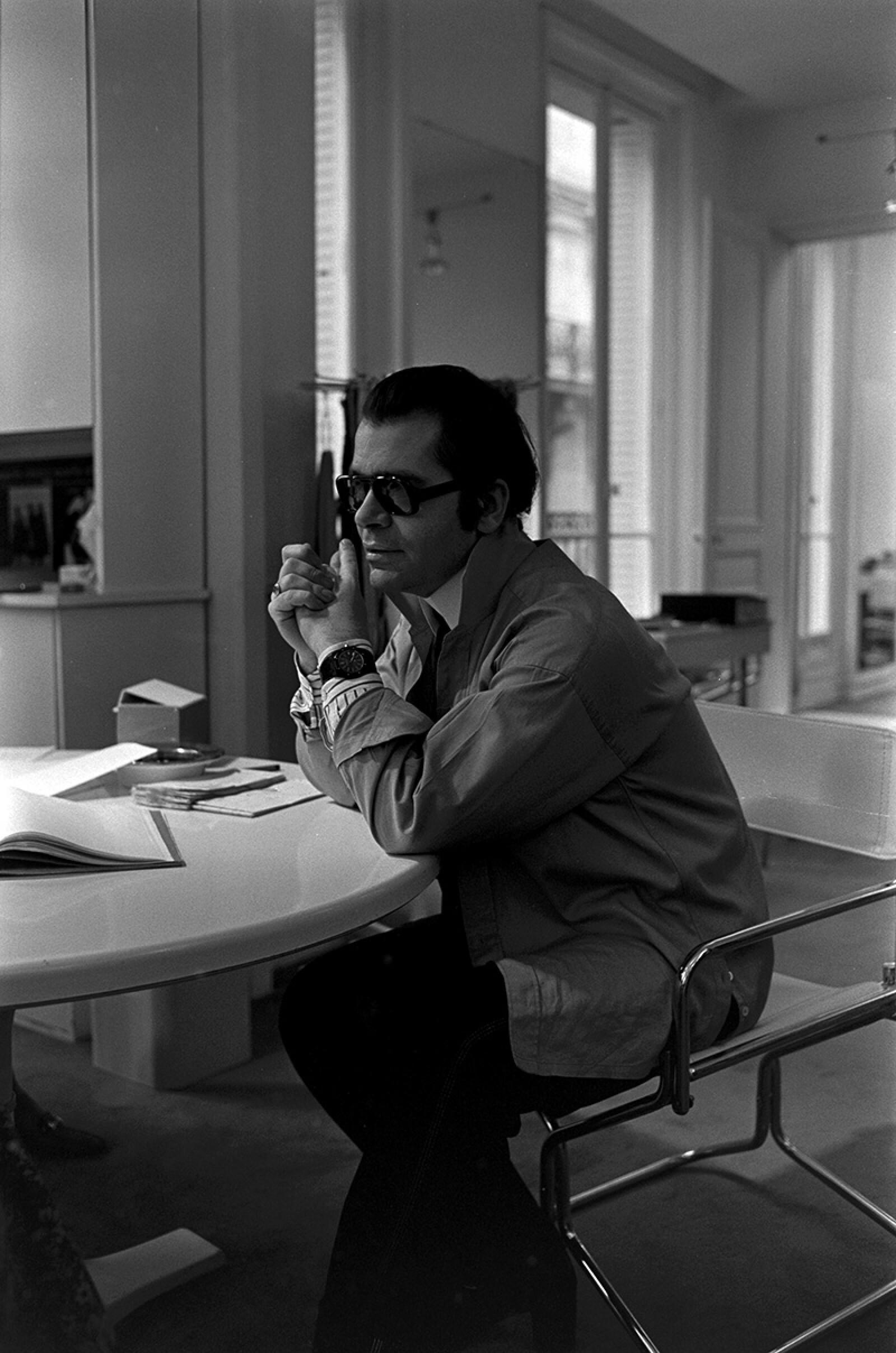 (Chloe) Karl Lagerfeld, Paris - Paris, Paris - 12 Feb 1977