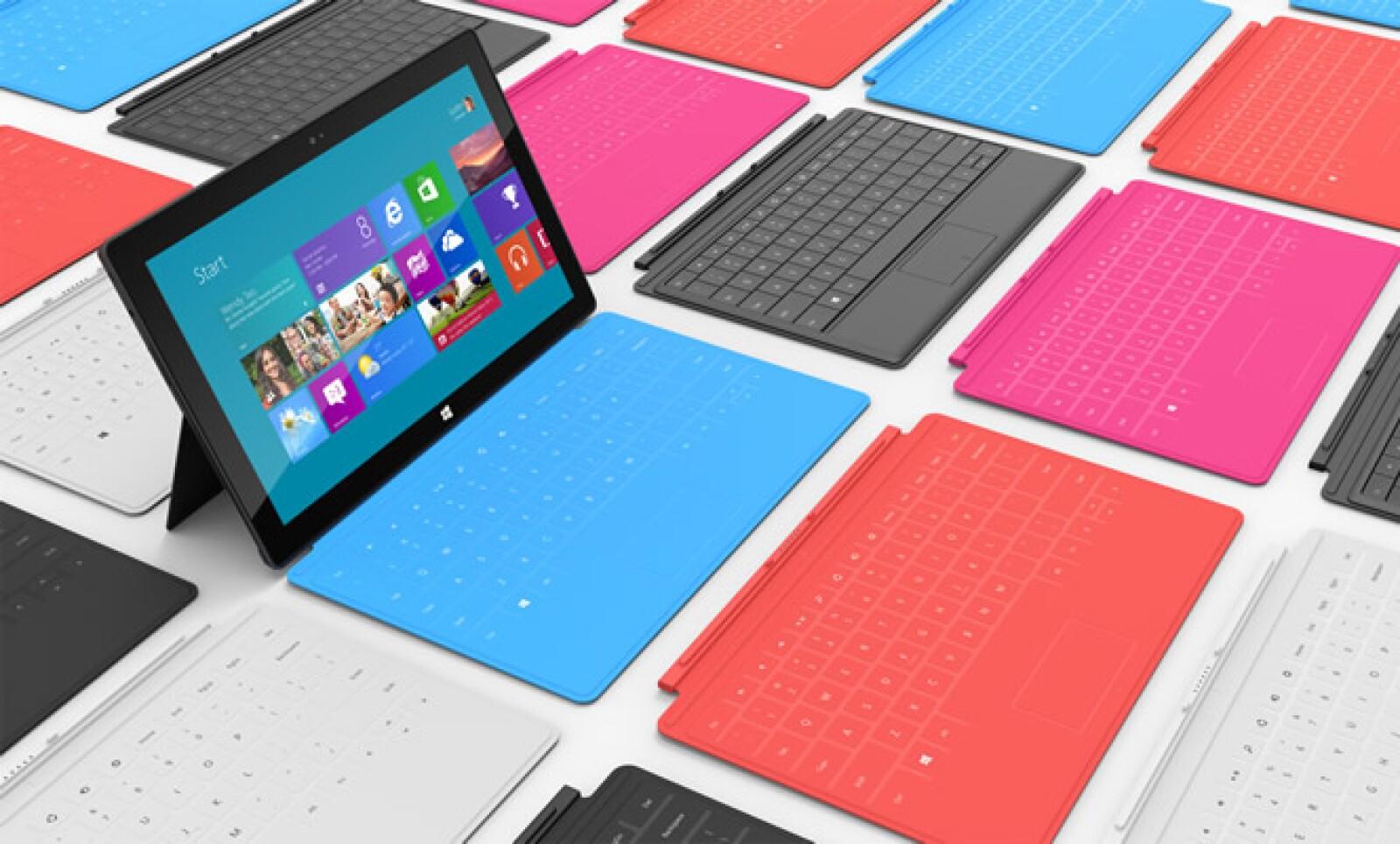 Microsoft presentó su nueva 'tablet' bajo el nombre comercial de Surface. Este equipo incluirá el próximo sistema operativo Windows 8 de la tecnológica.
