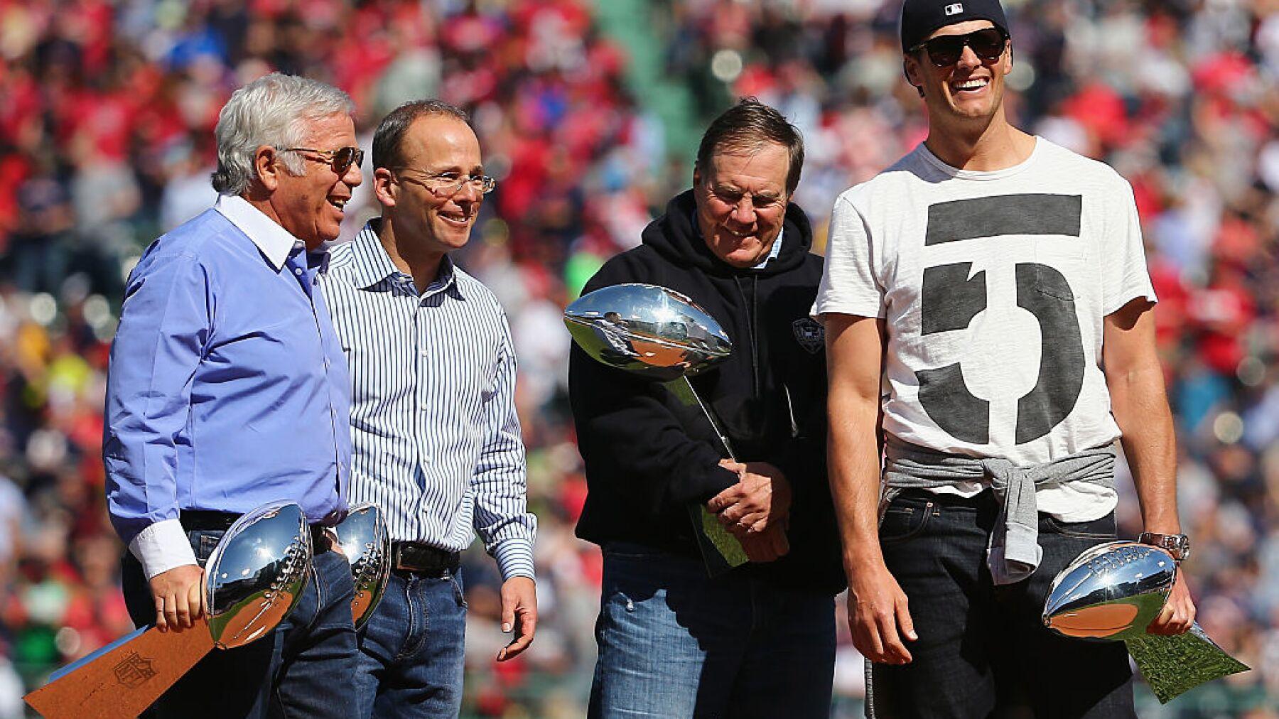 Belichick, Brady y Kraft