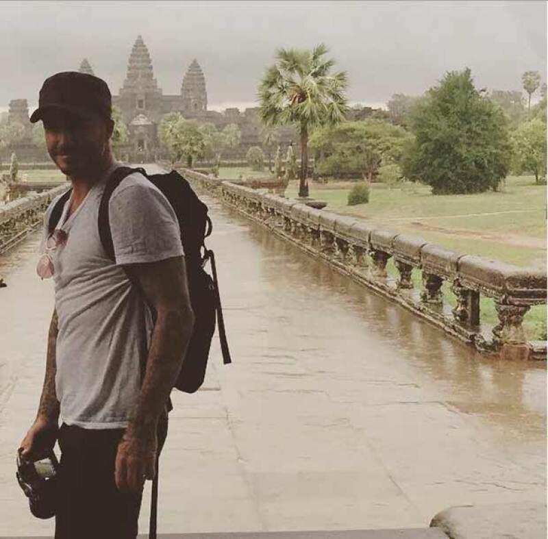 David en el templo Angkor Wat.