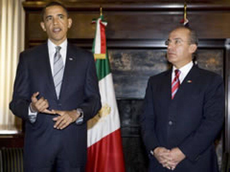 Obama y Calderón sostuvieron su primer encuentro en Washington. (Foto: Reuters)