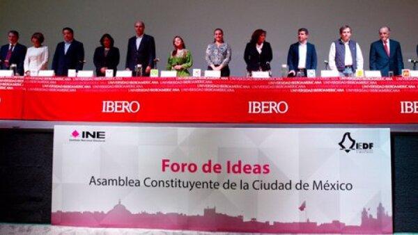 Los candidatos de partidos políticos e independientes se dieron cita en la Universidad Iberoamericana para presentar sus propuestas rumbo a la Asamblea Constituyente.