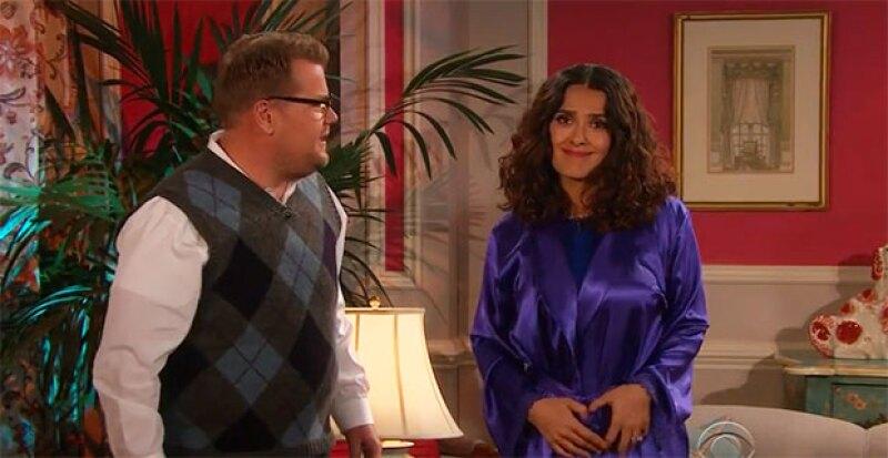 Acompañada por el presentador, Ray Romano y Gary Oldman, la mexicana estelarizó un pequeño melodrama basado en las canciones de Justin Bieber.