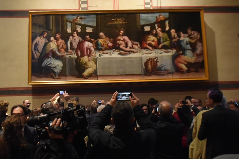 Da Vinci Pinto Parte De Una Replica De La Ultima Cena