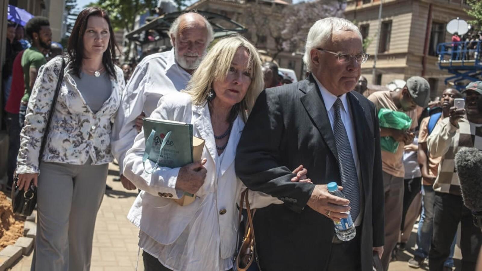 Familia padres Reeva Steenkamp